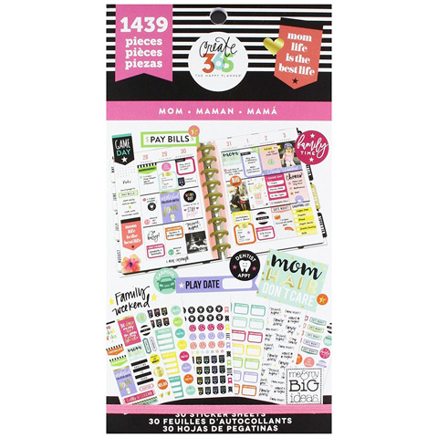 The Happy Planner Mom Life Stickers: 1439pk
