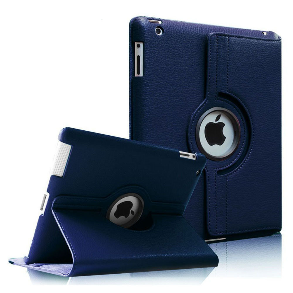 Fintie Apple iPad 2/3/4 Case - 360 Degree Rotating Stand Cover with Auto Wake/Sleep Feature, Navy