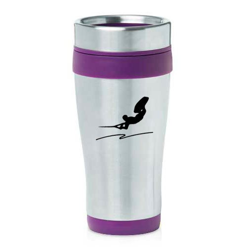 16oz Insulated Stainless Steel Travel Mug Wakeboard (Purple ) by