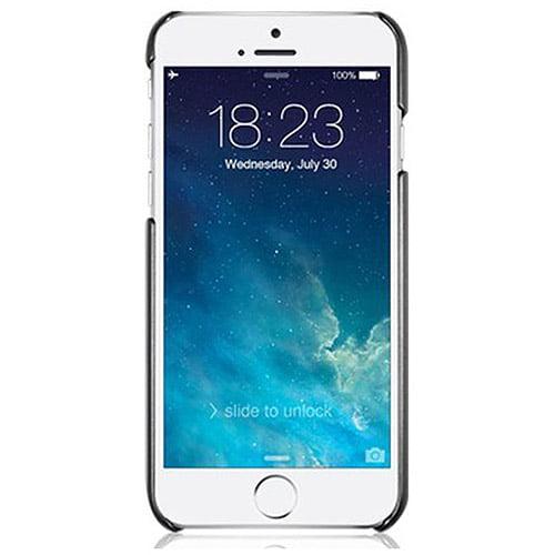 "Macally Metallic Snap-on Case for Apple iPhone 6 4.7"", Metallic Black"