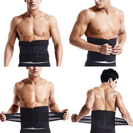 Mens Waist Trainer Neoprene Ab Shaper Belt Stomach Trimmer Sweat Slimming Belt  Cincher Weight Loss Fat