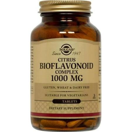 Citrus Bioflavonoid 50 Capsules - Solgar Citrus Bioflavonoid Complex 1000 mg Tablets, 250 Ct