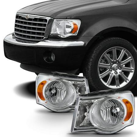 Fit 2007 2008 2009 Chrysler Aspen Headlights Headlamps LH Left & RH Right