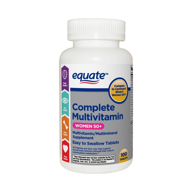 Equate Complete Multivitamin Tablets, Women 50+, 100 Count
