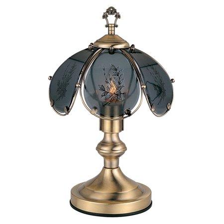 "ORE International 14.25"" Wheat Barley Touch Lamp, Antique Brass"