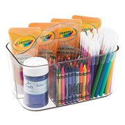 mDesign Art Supplies, Crafts, Crayons and Sewing Organizer - Small Caddy, Clear
