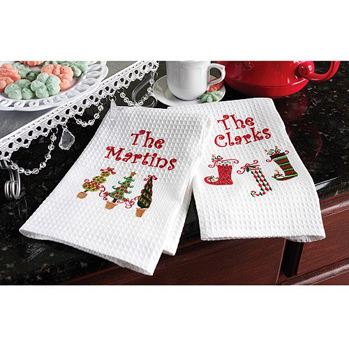 Christmas Kitchen Towels At Walmart: Personalized Holiday Guest Towel