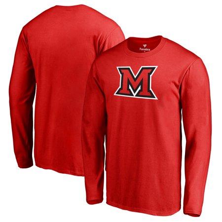 Miami University RedHawks Fanatics Branded Primary Team Logo Long Sleeve T-Shirt - Red (Miami University)
