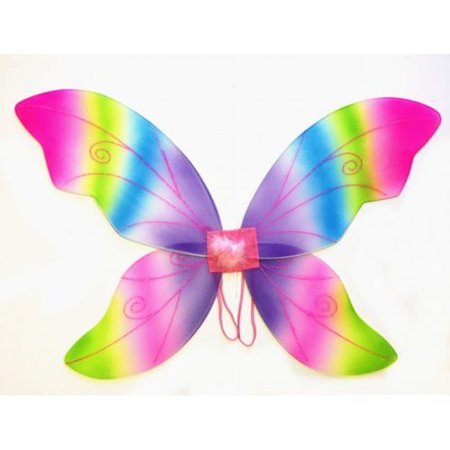 Rainbow Adult Fantasy Butterfly Fairy Wings Tinkerbell Womens Costume Accessory