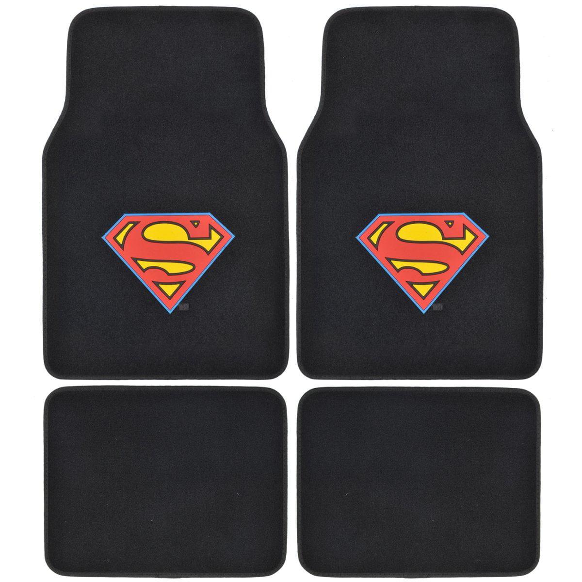 Batman Vs Superman - Set of 4 Universal Floor Mats for Cars / Trucks (Super Man)