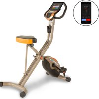 EXERPEUTIC GOLD 575 XLS Bluetooth Smart Technology Folding Foldable Upright Exercise Bike, 400 lbs
