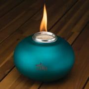 TIKI Brand Clean Burn Pearl of the Sea Tabletop Firepiece, Teal