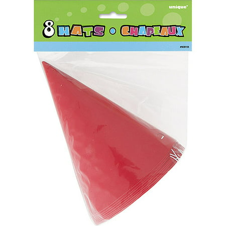 Party Hats, Red, 8ct](Firefighter Party Hats)