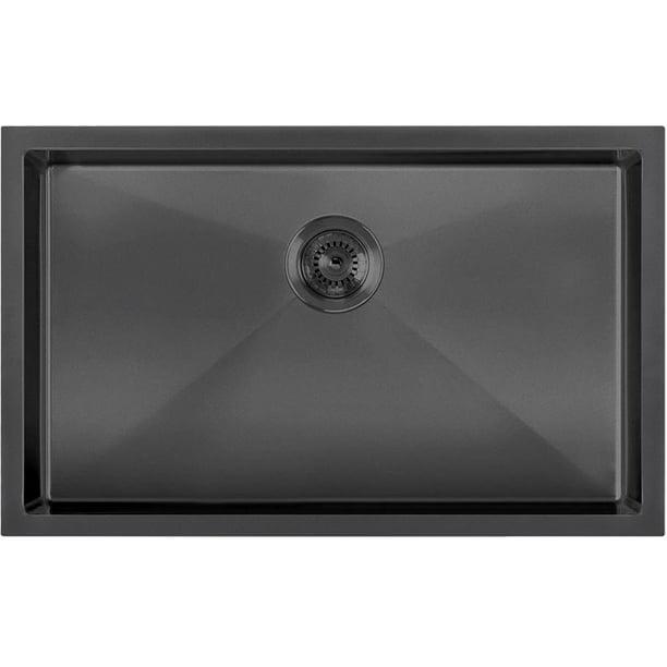 Whitehaus Whnpl2918 Noah Plus 29 Single Basin Kitchen Sink For Undermount Or Dr Walmart Com Walmart Com
