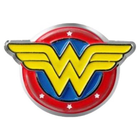 Wonder Woman Logo Colored Pewter Lapel Pin, Highly Detailed By