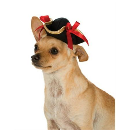 Black Gold Red Tricorn Girl Swashbuckler Pirates Hat For Pet Dog (Dog Pirate Hat)