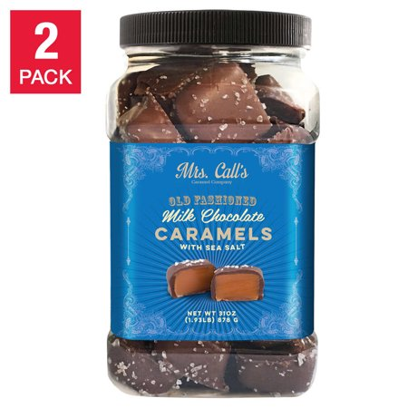 Mrs. Call's Old Fashioned Milk Chocolate Caramels with Sea Salt 31 oz,