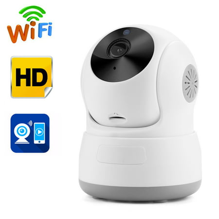 AGPtek Security Camera Network Indoor CCTV Night Vision HD Wireless Pan&Tilt WIFI IP Camera ()