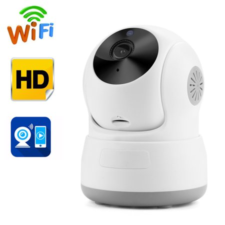 Color Cctv Night Vision (AGPtek Security Camera Network Indoor CCTV Night Vision HD Wireless Pan&Tilt WIFI IP Camera )