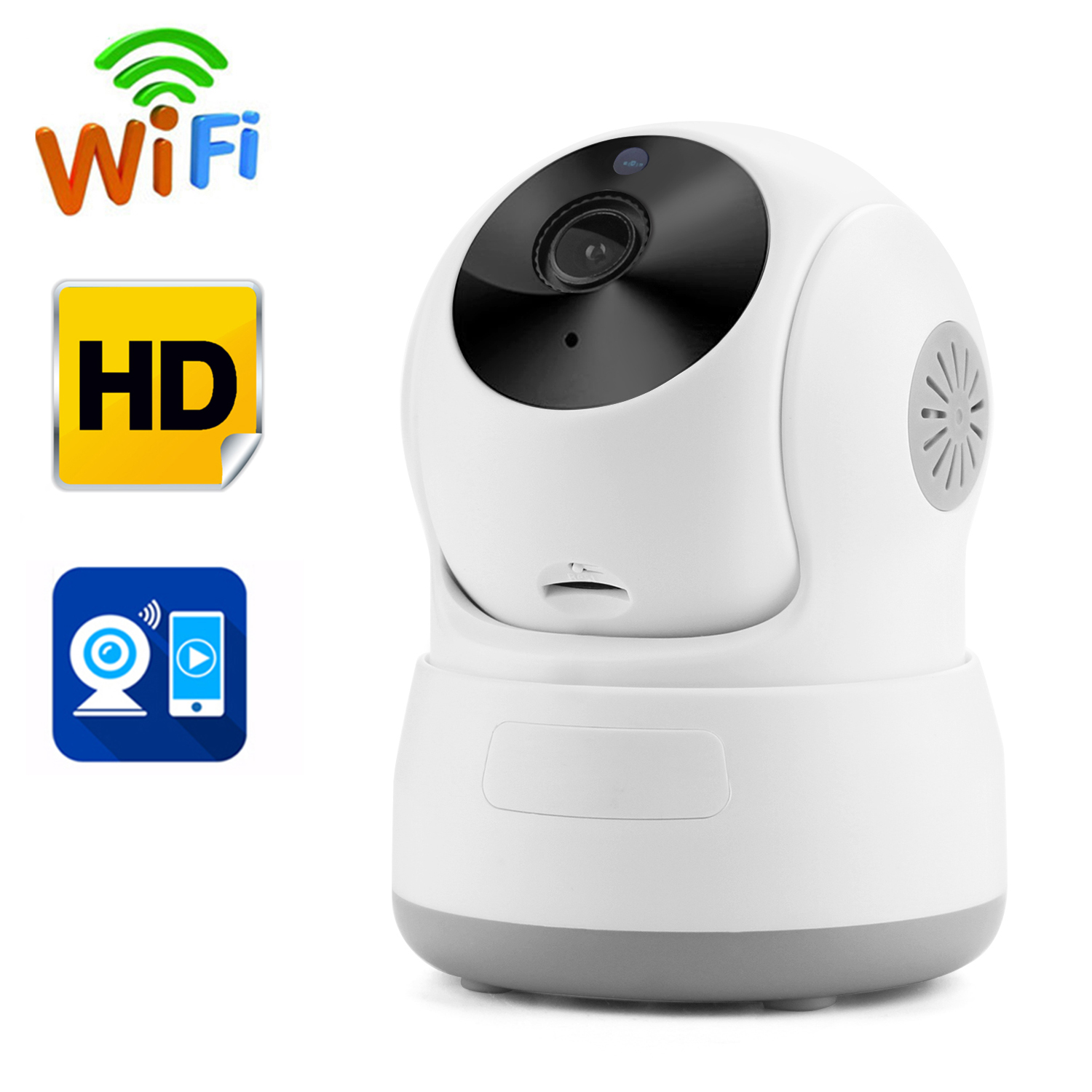 AGPtek Security Camera Network Indoor CCTV Night Vision HD Wireless Pan&Tilt WIFI IP Camera