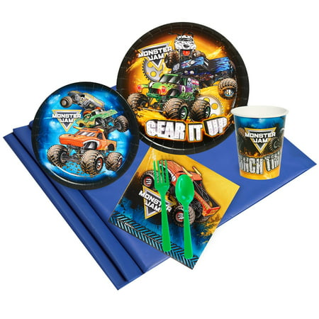 Monster Jam 24 Party Pack (Monster Jam Birthday Party Supplies)