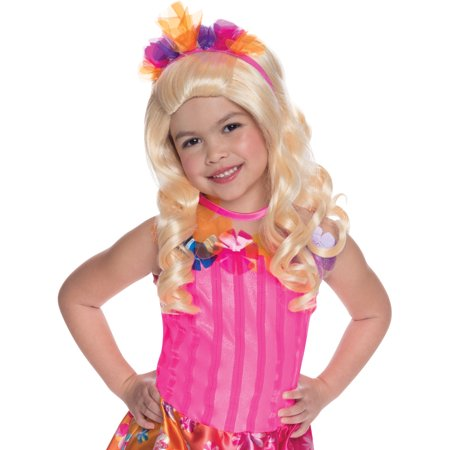 Child's Barbie And The Secret Door Alexa Wig With Tiara Costume Accessory - Barbie Wig