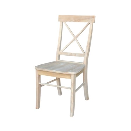 International Concepts X-Back Chair, Set of 2, Unfinished