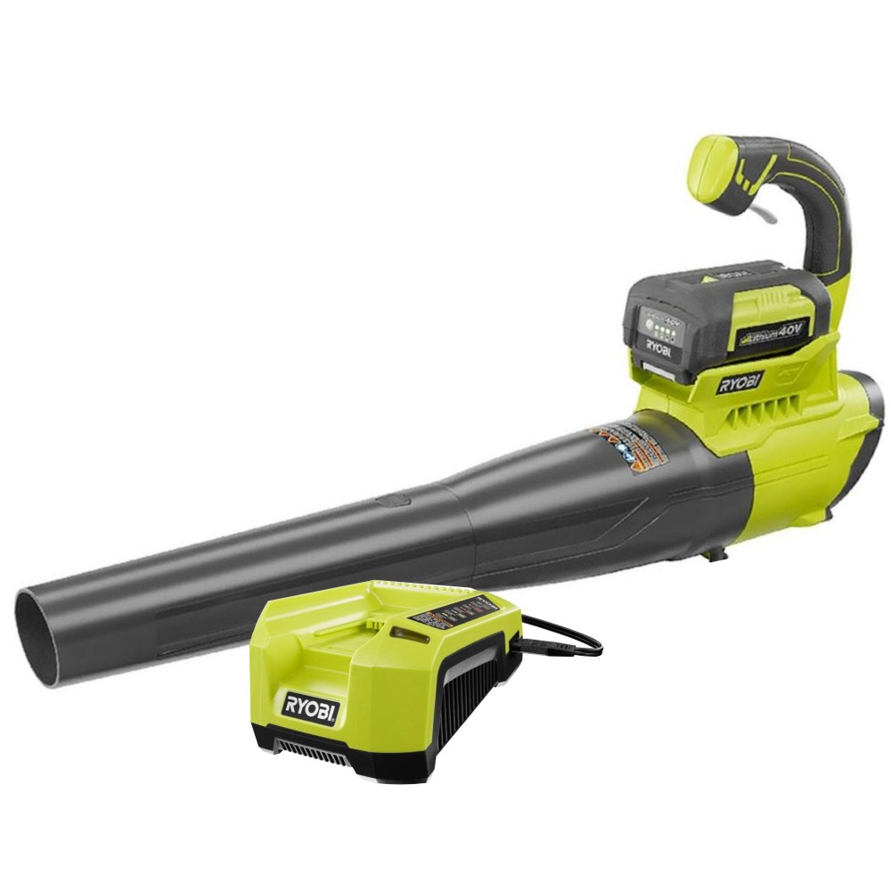 Ryobi RY40411 155 mph 300 CFM Lithium-ion Cordless Electric 40-Volt Blower Kit ZRRY40411 Reconditioned