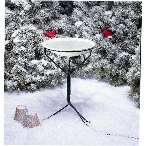 Allied Precision 20 inch Heated Bird Bath with Metal Stand