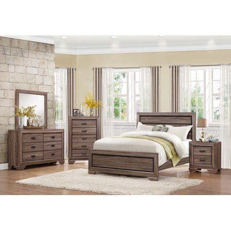 Bainbridge 4 Piece Provincial Queen Bedroom Set in Beechwood ()