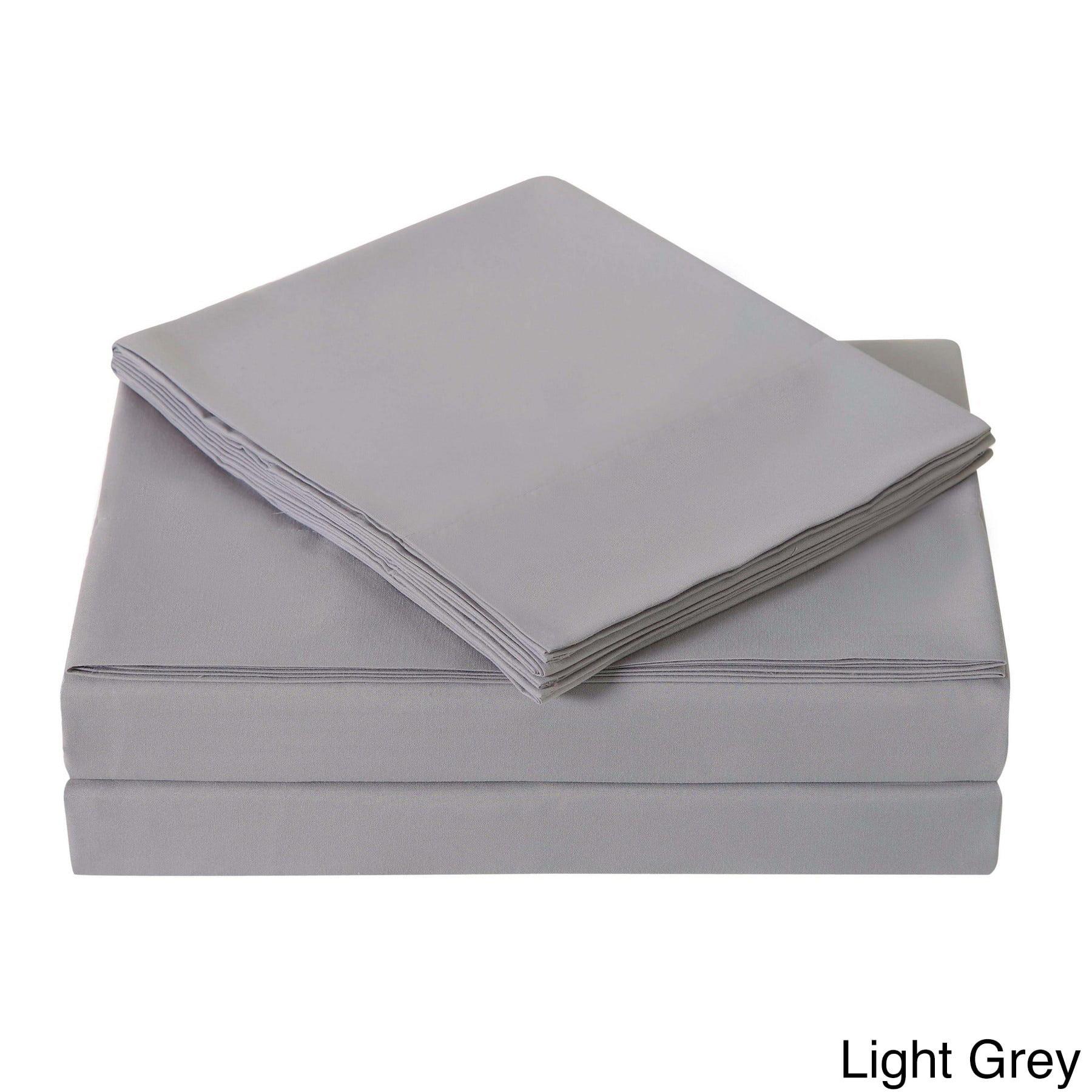 London Fog Solid Ash Light Gray Bedding Sheet Set Walmart Com