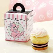 Pink Poodle Cupcake Boxes, 4pk