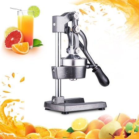 Large Commercial Juice Press Citrus Juicer, Manual Juicer Juices Pomegranate,Oranges, Lemons, Limes, And Grapefruits Juicing Is Fast Easy And Clean (Manual Orange Juicer Glass)