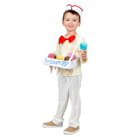 Halloween Boy's Ice Cream Cone Salesman Child Costume](Safety Cone Costume)