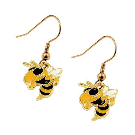 Pearl Dangle Earring Charms (Georgia Tech Yellow Jackets