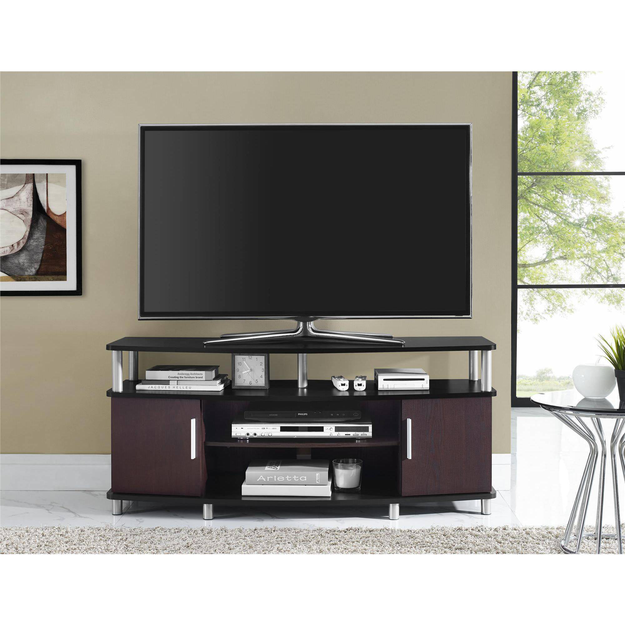 Living Room Entertainment Carson Tv Stand For Tvs Up To 50 Multiple Finishes Walmartcom