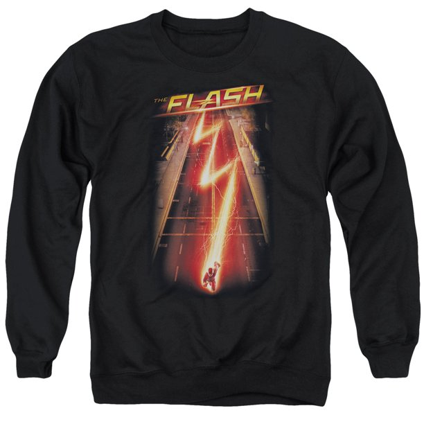 The Flash CW Superhero Series Season One Promo Poster Adult Crewneck Sweatshirt