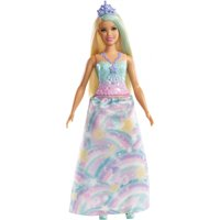 Barbie Dreamtopia Princess Doll, Blonde, Wearing Rainbow-Themed Outfit