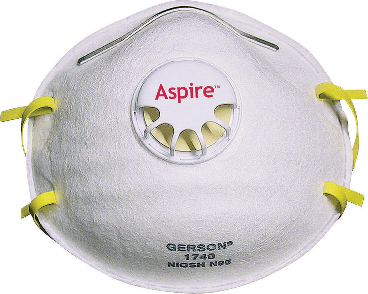 Jackson 64240 Disposable Particulate Respirator With Valve, Universal, N95, White by Kimberly Clark