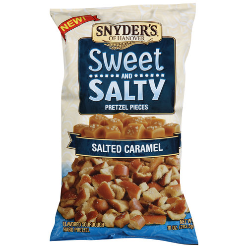 Snyder's of Hanover Salted Caramel Sweet and Salty Pretzel Pieces, 10 oz