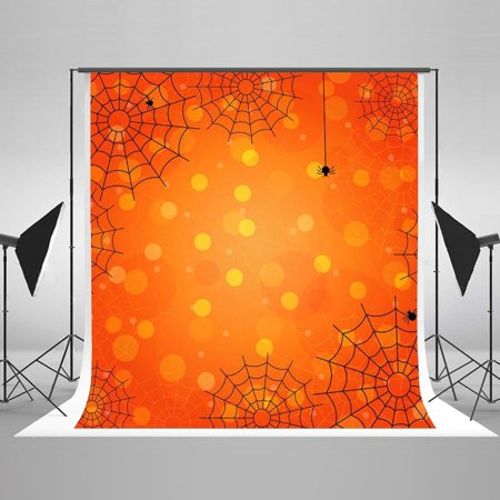GreenDecor Polyester Fabric Halloween Color Banquet Props Spider Cobweb Photo Backdrops for Photography Studio Props - Halloween Cobwebs Designer Photo Blanket
