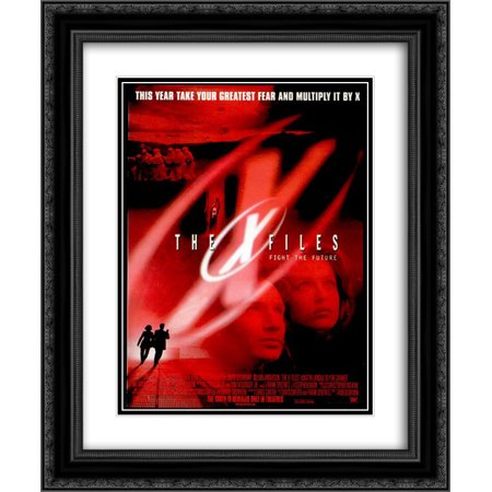 The X Files Fight The Future 20x24 Double Matted Black Ornate Framed Movie Poster Art Print ()
