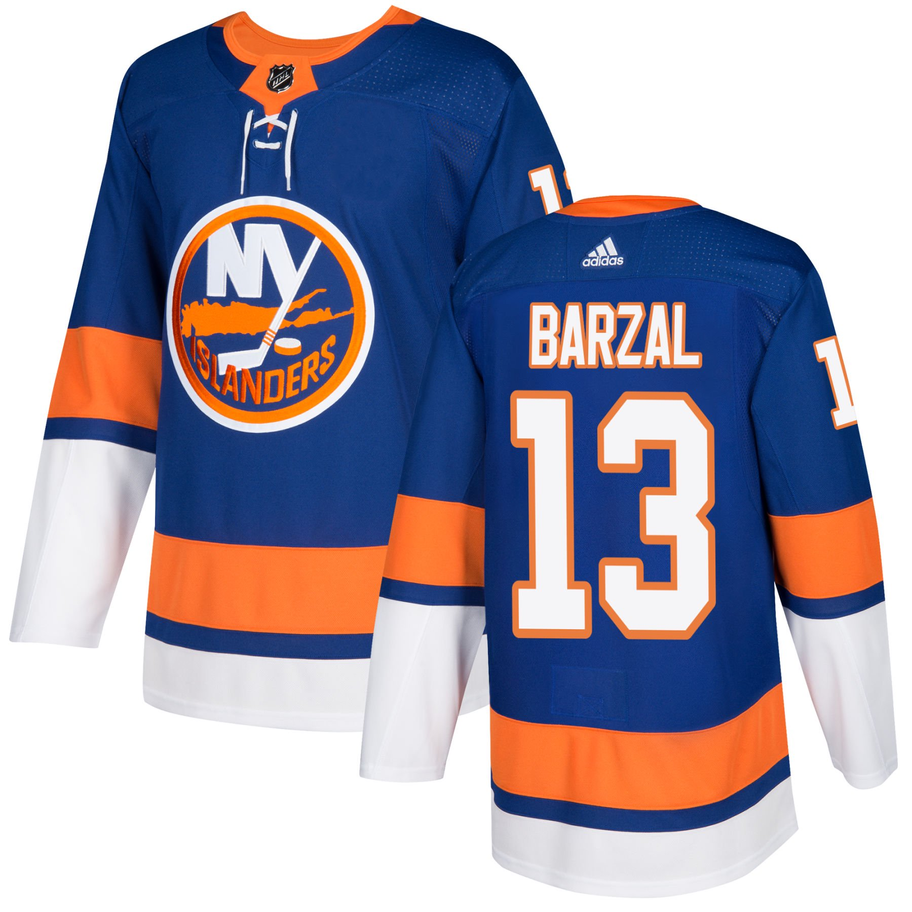 Authentic Mathew - Islanders York Jersey Nhl Stitched Pro Barzal Home Adidas New