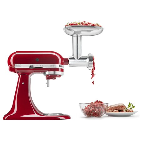 KitchenAid Metal Food Grinder Attachment (KSMMGA) (Kitchen Aid Meat Attachment)