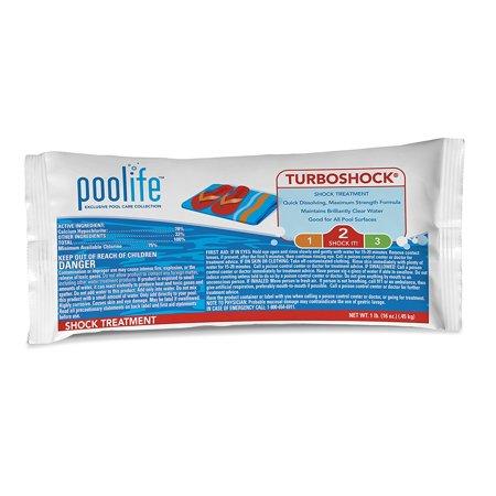 Chlorine Shock (TurboShock - 1 lb., 75% minimum available chlorine By POOLIFE from USA)