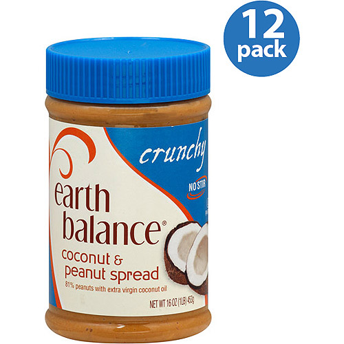 Earth Balance Crunchy Coconut & Peanut Spread, 16 oz, (Pack of 12)