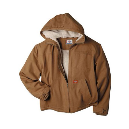 Men's Sanded Duck Sherpa Lined Hooded Jacket Carhartt Duck Work Dungaree