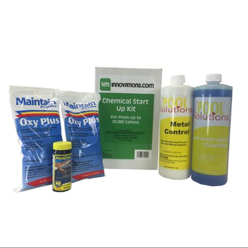 Swimming Pool Spring Start-Up Chemical Opening Kit - Pools Up To 20,000 Gallons