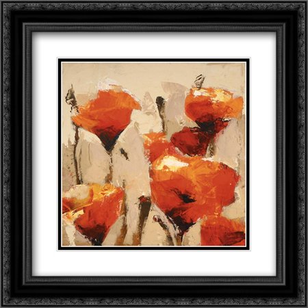 In Sync 2x Matted 20x20 Black Ornate Framed Art Print by Colbert , (Frame Sync)