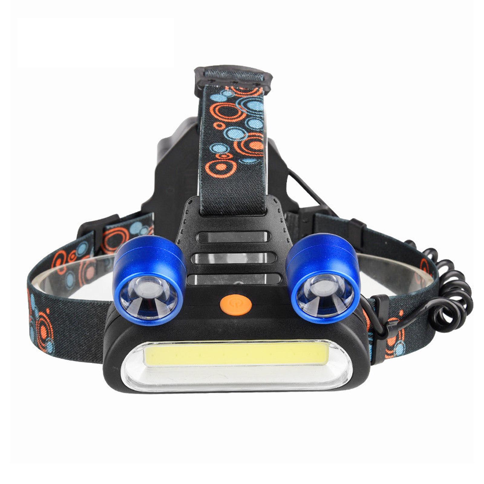 EEEKit 1800LM 2 x XM-L T6 LED COB USB Rechargeable Head Light Headlamp Flashlight Torch